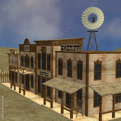 Poster Ouest sauvage western town
