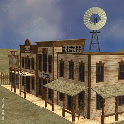 Keuken foto achterwand Wild West western town