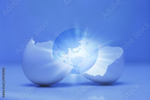 Fotografie, Tablou 卵と地球
