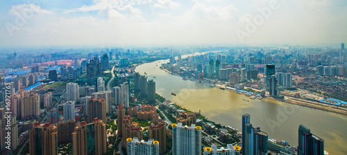 Keuken foto achterwand Seoel City landscape Shanghai