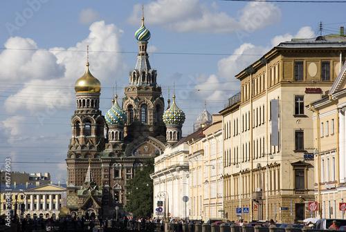 Fotografia  San Pietroburgo, Chiesa San Salvatore - Fiume Neva