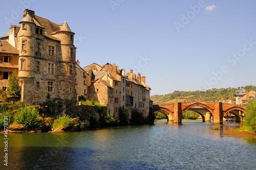 Le village d'espalion en Aveyron Canvas Print
