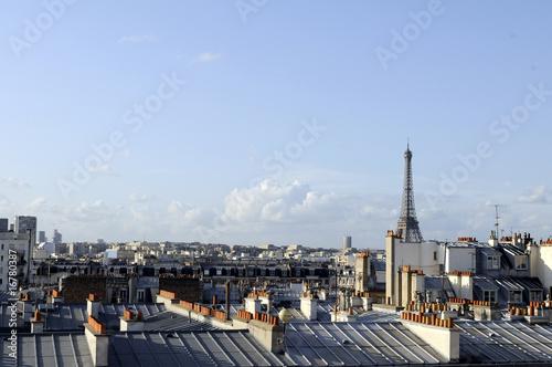 Photo Stands Paris Paris-Tour Eiffel et ses toits