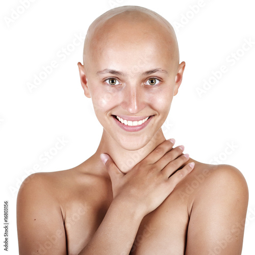 Tablou Canvas beautiful bald-headed girl