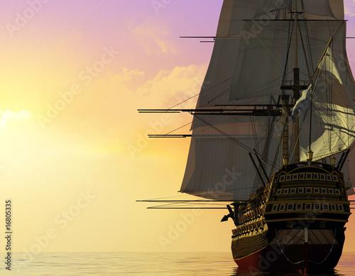 Türaufkleber Schiff The ancient ship