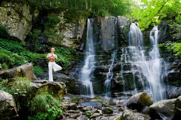 Fototapeta Do Spa Yoga in the nature