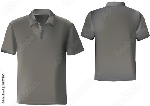 Black polo shirt design template with front and back. with mesh ...