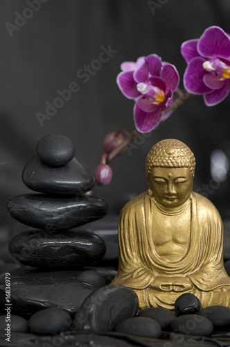 Recess Fitting Buddha Buddha und Orchidee