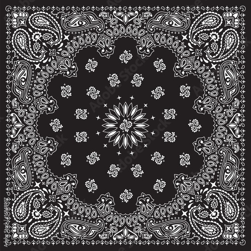 Canvas Print BANDANA-BLACK