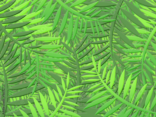Spoed Fotobehang Tropische Bladeren tropical jungle with dense vegetation leaves