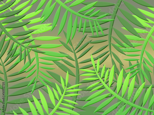 Recess Fitting Tropical Leaves tropical jungle with dense vegetation leaves