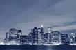 Lower Manhattan skyline at Night Lights