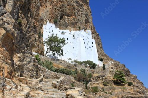 Monastère de la Panagia Chozoviotissa à Amorgos  - Grèce Canvas Print