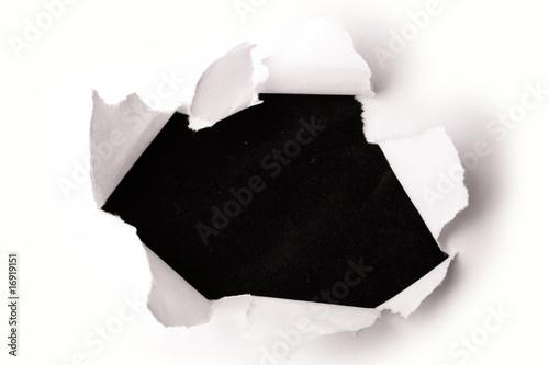 Fotografía  Hole in paper