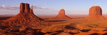 Colored Monument Valley During...