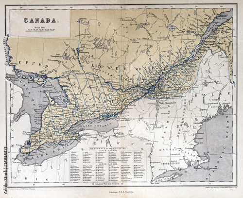 Map Of Canada 1870.Old Map Of Canada 1870 Buy This Stock Photo And Explore Similar