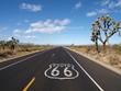 canvas print picture - Route 66 Mojave Desert