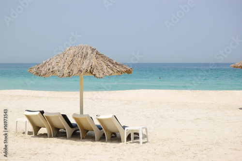 Photo  Beach at luxurious hotel, Dubai UAE