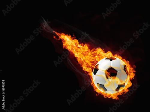 piłka w ogniu
