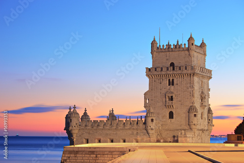 Tower of Belem (Torre de Belem), on sunset, Lisbon, Portugal