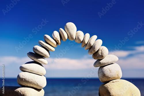 Foto op Plexiglas Stenen in het Zand Much gravel