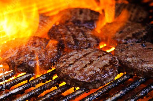 Fotografie, Obraz  Burgers on a grill