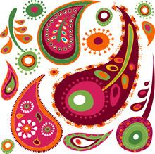 Cute Paisley Seamless Pattern