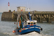 Trawler on returning to the port after a marine fishing