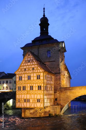Deurstickers Brugge Bamberg Wahrzeichen altes Rathaus