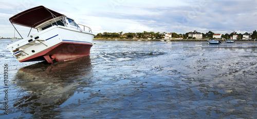 Fotografia bateau à marée basse