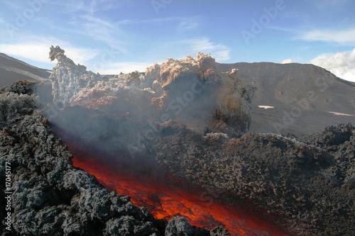 Staande foto Vulkaan Lavakanal am Ätna 2009