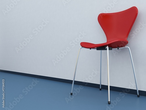 Strange Modern Red Chair To Face A Blank White Wall Blue Floor Pdpeps Interior Chair Design Pdpepsorg