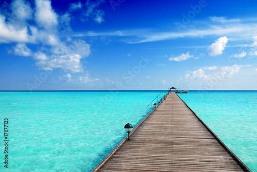Motiv-Rollo Basic - Jetty in the Maldives