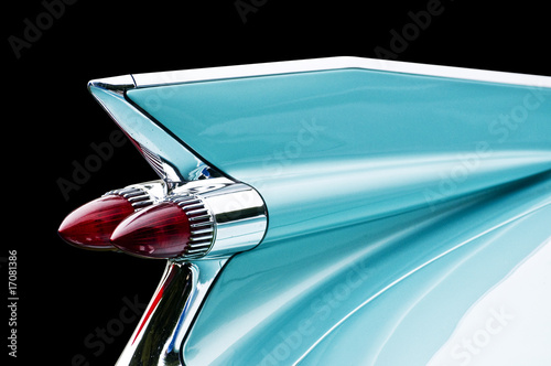 blue cadillac tail light Wallpaper Mural