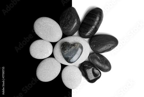 Plissee mit Motiv - Arte de Piedras con Corazon