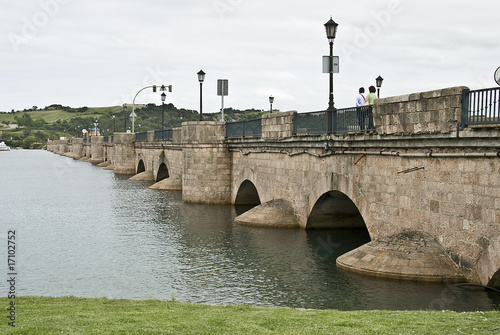 Fotografie, Obraz  Puente de San Vicente de la Barquera.