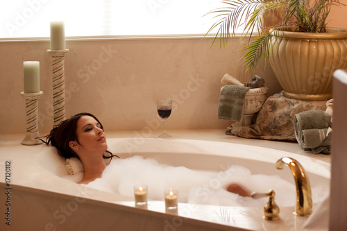 Fotografie, Obraz  Relaxing with a BubbleBath