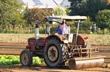 Traktor Beim Pflügen VI