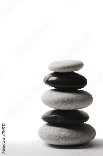 Plissee mit Motiv - Piedras Zen