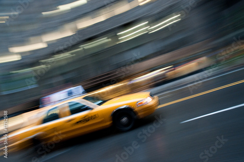 Staande foto New York TAXI NYC taxi cab panning