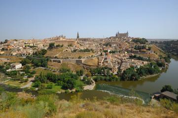 Fototapeta na wymiar Toledo, view from above, Spain