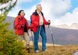 Leinwandbild Motiv hiking seniors 11