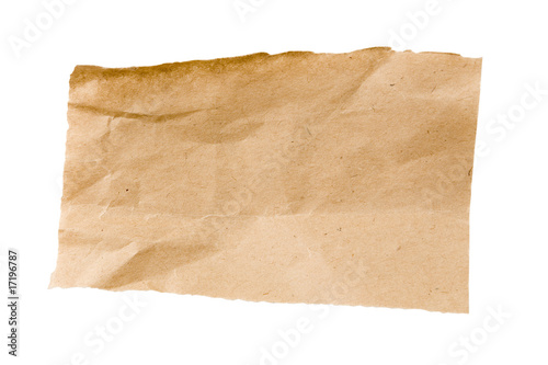 Valokuva  Crumpled Brown Packaging Paper