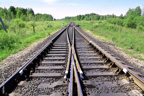 Türaufkleber Eisenbahnschienen railway