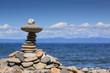 Pebble stones on the Baikal beach