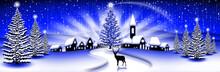 Paesaggio Natale Blu-Christmas...