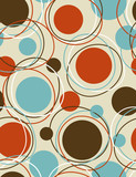 Circles orbit - seamless pattern