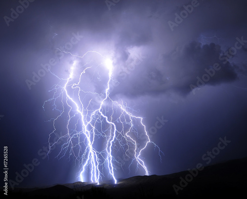 Photo sur Toile Tempete Tucson Lightning