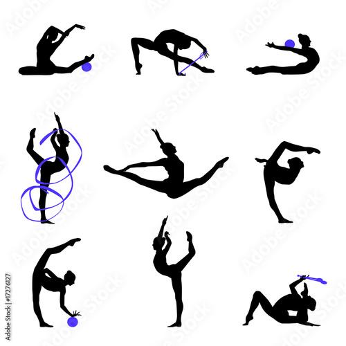 Poster de jardin Gymnastique Gymnastique Rythmique SR 4