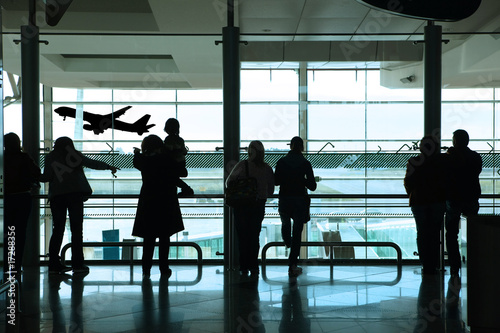 Foto op Canvas Luchthaven people in the airport